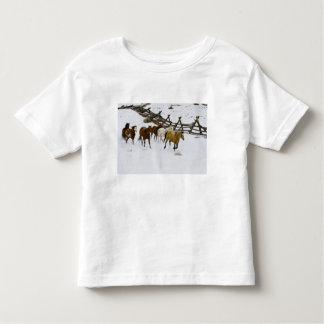 Horses Running in Snow Toddler T-Shirt