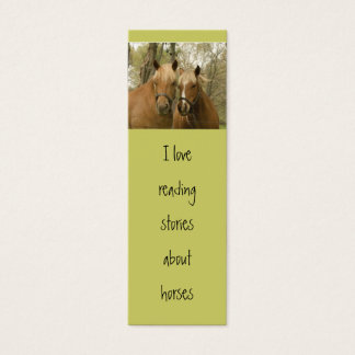 horses skinny business card