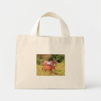horses south america tote bags