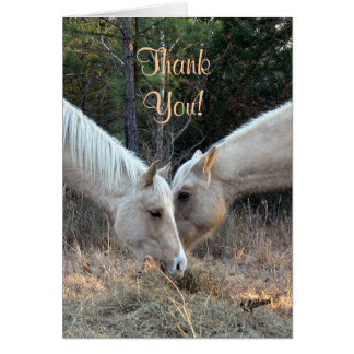 Horses Thank You Card
