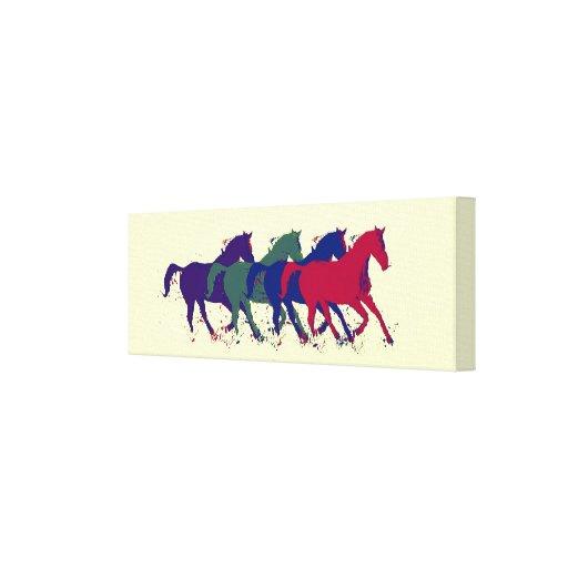 horses to decor walls stretched canvas print
