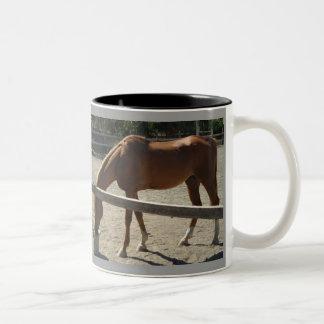 Horses..! Two-Tone Coffee Mug