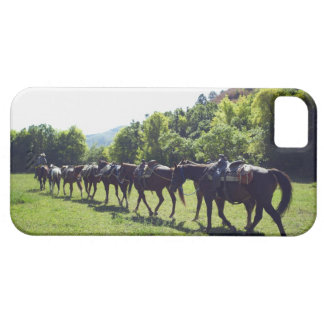 Horses walking in a line barely there iPhone 5 case