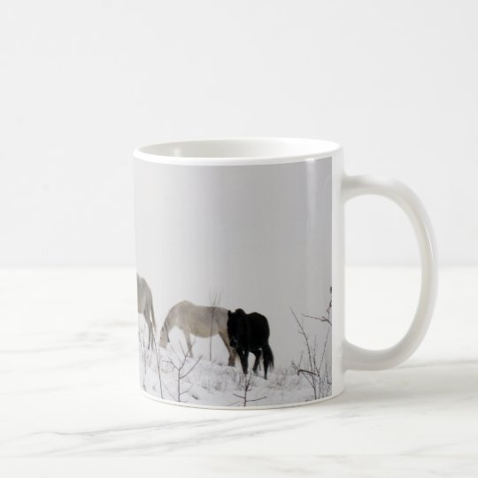 Horses Winter Photo Classic White Mug
