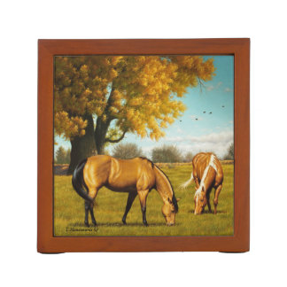 Horses With Fall Colors Desk Organizer Desk Organisers