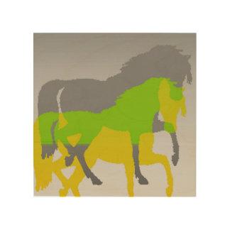 horses wood wall decor