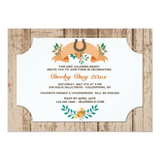 Horseshoe and Flower Banner Invitation