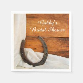 Horseshoe and Satin Country Bridal Shower Napkins Paper Napkin