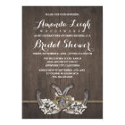 Horseshoe Baby's Breath Bridal Shower Invitations