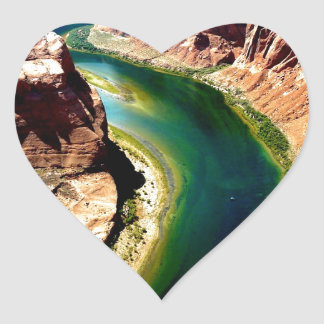 horseshoe bend Arizona Colorado river Heart Sticker
