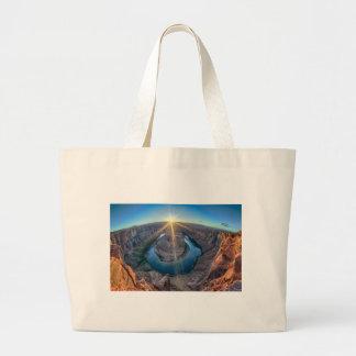 horseshoe bend arizona large tote bag