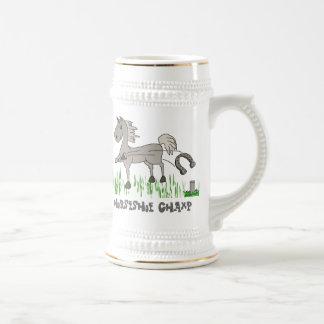horseshoe champ beer stein