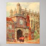 Horseshoe Cloisters, Windsor Castle, England Poster
