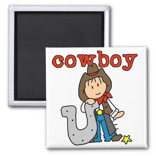 Horseshoe Cowboy Tshirts and Gifts Square Magnet