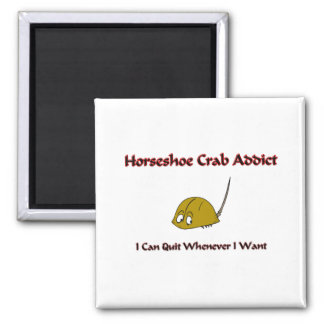 Horseshoe Crab Addict Square Magnet