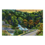 Horseshoe Curve View of Bastion Falls Poster