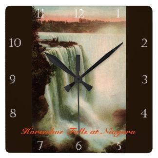Horseshoe Falls at Niagara Custom Square Wall Clock