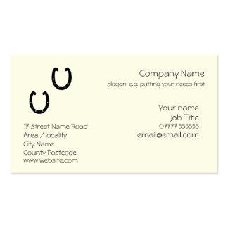 Horseshoe Generic business card template