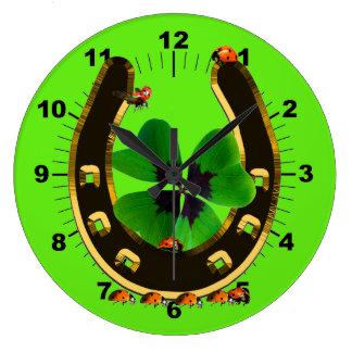 Horseshoe Large Clock