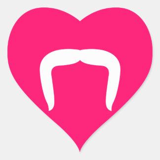 Horseshoe Mustache Heart Sticker