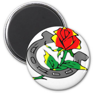 Horseshoe & Rose Tattoo Magnet