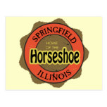 Horseshoe Sandwich Springfield Illinois Postcard