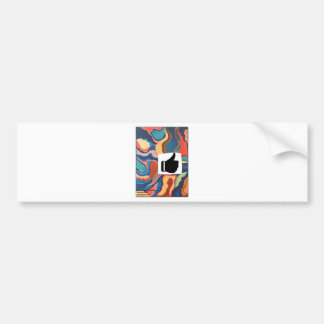 Horseshoe Thumbs Up Bumper Sticker