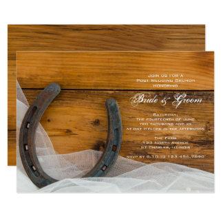 Horseshoe Veil Country Barn Post Wedding Brunch Card