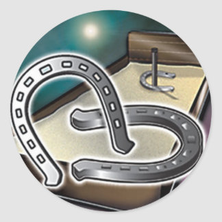 HorseShoes an Pit Round Sticker