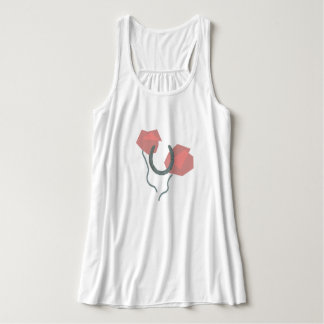 Horseshoes and flowers tank