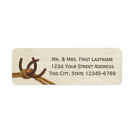 Horseshoes and Rope Knot Return Address Label