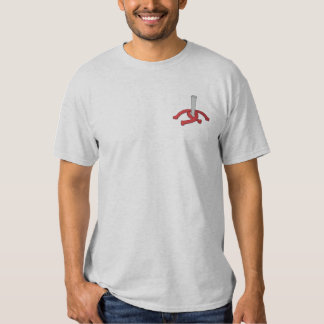 Horseshoes and Stake Embroidered T-Shirt