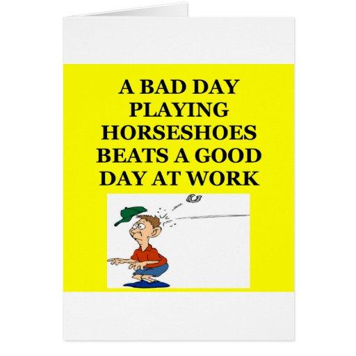 horseshoes cards