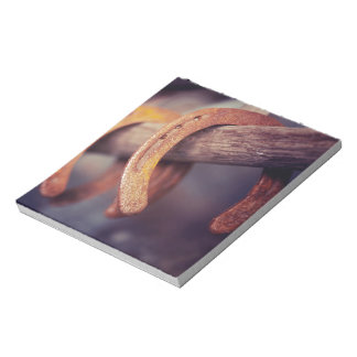 Horseshoes on Barn Wood Cowboy Country Western Notepad