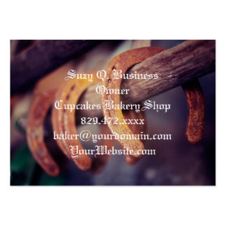Horseshoes on Barn Wood Cowboy Country Western Pack Of Chubby Business Cards