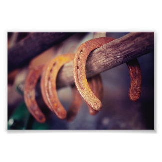 Horseshoes on Barn Wood Cowboy Country Western Photograph