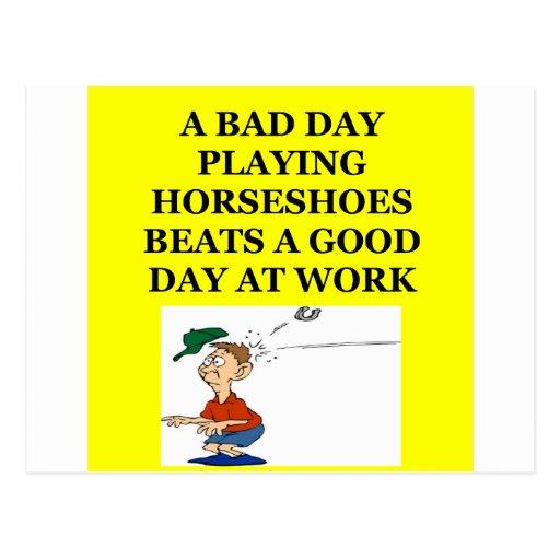 horseshoes postcard