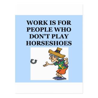 horseshoes postcards
