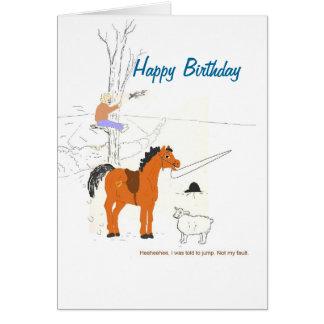 Horsey Joke Birthday Card