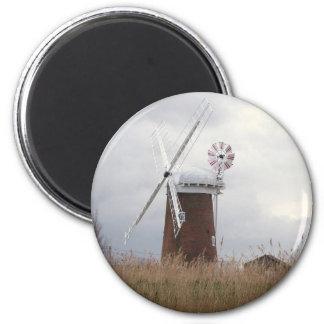Horsey Windpump Norfolk 6 Cm Round Magnet