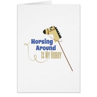 Horsing Around Greeting Card