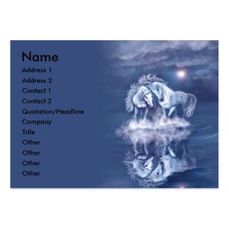 horsing around-chubby-business card