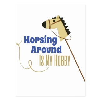 Horsing Around Postcard