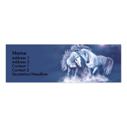 horsing-around-skinny-card-f, Name, Address 1, ... Business Card Templates