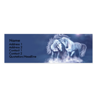 horsing-around-skinny-card-f, Name, Address 1, ... Pack Of Skinny Business Cards