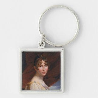 Hortense de Beauharnais 2 Silver-Colored Square Key Ring