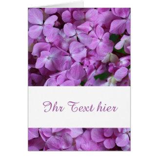 hortensie card