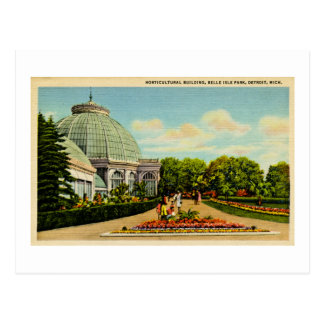 Horticultural Building, Belle Isle Park, Michigan Postcard