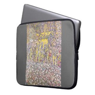 Horticultural landscape ,hilltop by Gustav Klimt Laptop Sleeve