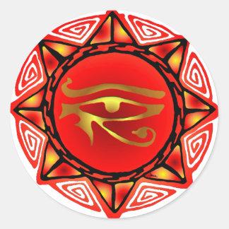 Horus Storm Round Stickers